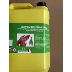 SOLUTION HYDROALCOOLIQUE 5 L