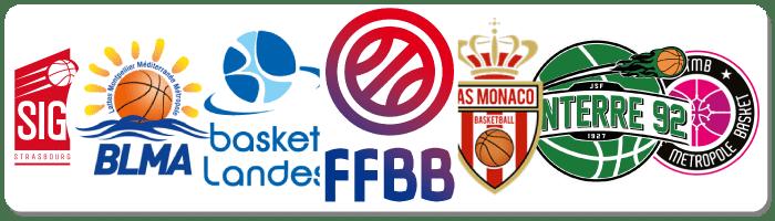 Clubs de basketball partenaires