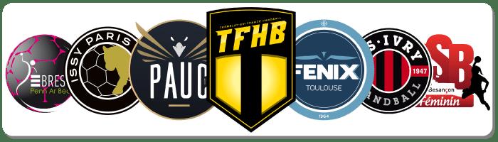 Clubs de handball partenaires